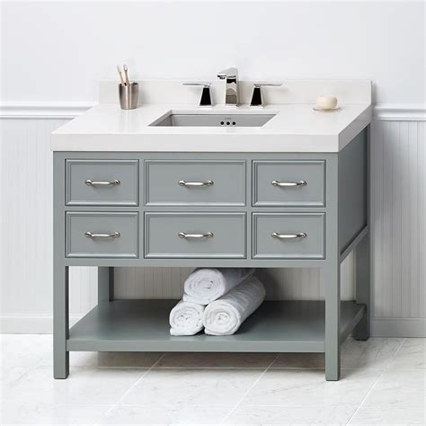 42 Bathroom Vanities - 42 quot newcastle bathroom vanity cabinet base