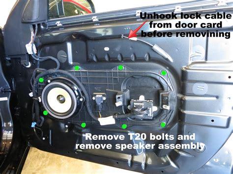 remove xf xfr door card panel fix door rattles