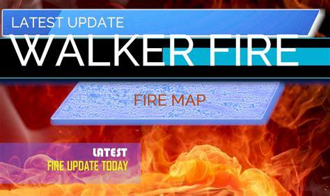 walker fire map  update plumas fire today