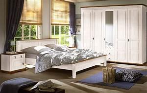 Schlafzimmer Weiß Landhaus : schlafzimmer komplett kiefer massiv wei as honig landhaus valencia ii set 03 ebay ~ Sanjose-hotels-ca.com Haus und Dekorationen