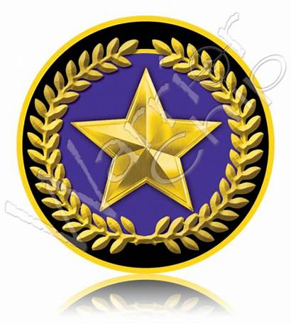 Star Gold Military Challenge Non Poker Chips