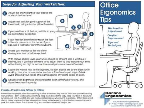 image detail for office ergonomics information office