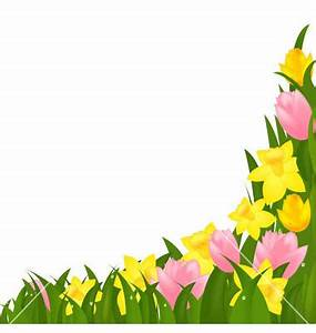 Spring Flowers Page Border Clipart
