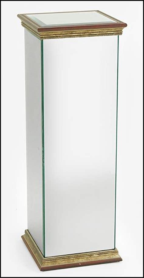 mirror pedestal stand contemporary mirrored pedestal stand lot 1381004