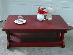 furniture red coffee table from the makers butler With red distressed coffee table