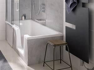Dusche Badewanne Kombi : badewanne mit dusche und einstieg ~ Michelbontemps.com Haus und Dekorationen