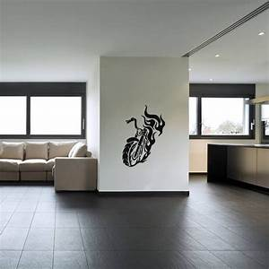 stickers de silhouettes et personnages sticker moto en With carrelage adhesif salle de bain avec feu led moto
