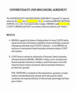 12 non disclosure agreement templates free sample With letter of confidentiality and nondisclosure template