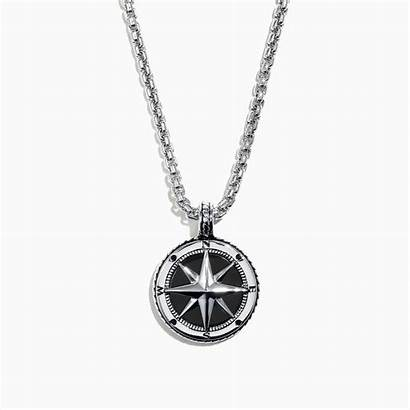 Compass Silver Sterling Effy Pendant Onyx Ring