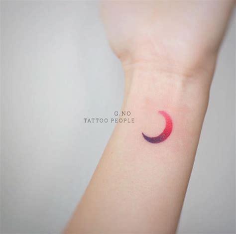 purple moon    moon tattoos