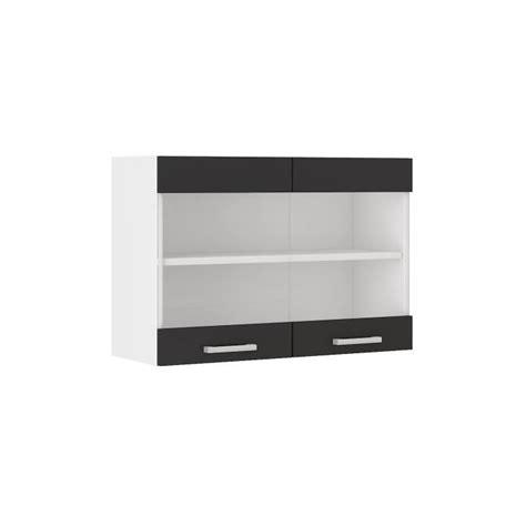 cuisine domactis ultra meuble haut de cuisine l 80 cm noir achat vente éléments haut ultra meuble haut de