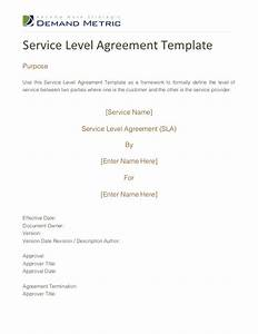 fine sla metrics template vignette example resume and With saas service level agreement template