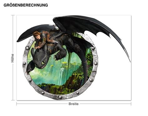 Wandtattoo Dragons Hicks Und Ohnezahns Abenteuer