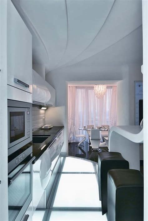 cozy futuristic apartment interior  kiev ukraine