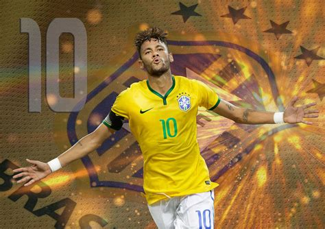 neymar jr brazil world cup created by editz on space invade