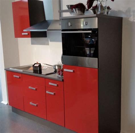 einbauküche ohne geräte einbauk 252 che mankatop 11 rot grau k 252 chenzeile 220 cm o ger 228 te gt schr 228 nke montiert ebay