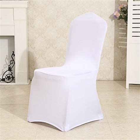 white 100pcs spandex folding chair covers wedding party