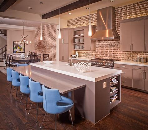 50 Trendy And Timeless Kitchens With Beautiful Brick Walls. Open Floor Kitchen Living Room Plans. English Name For Living Room. Living Room Tv Stands. Living Room With Black Leather Furniture. Le Living Room Pare. Living Room Style Office. Shelves For Living Room Modern. The Living Room Restaurant San Diego
