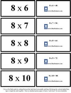 flash card bluebonkers free printable multiplication flash cards eights 6 10 p2