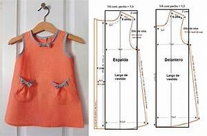 Hermoso Vestido de Niña en A con patrones Patrones De Costura