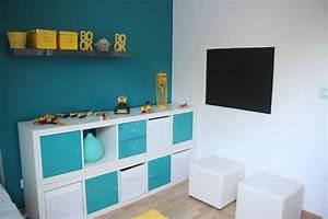 Chambre Garcon Bleu Et Gris : chambre enfant moderne ~ Dode.kayakingforconservation.com Idées de Décoration