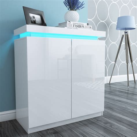 bedroom track lighting shoe storage cupboard in white high gloss with led