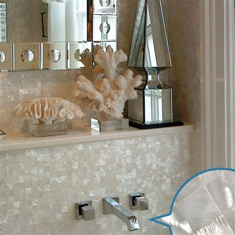 wholesale mother  pearl tile white square shell tiles