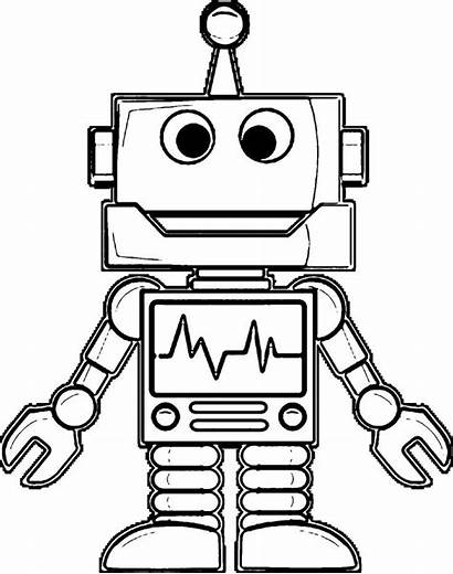 Robot Coloring Drawing Pages Robots Printable Sketch
