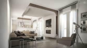 taupe white living room interior design ideas