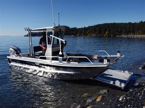 Aluminum Boats by 19 Prospector Jet Landing Craft Aluminum Boat By