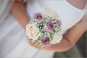 small wedding bouquets lilac roses bridal bouquet