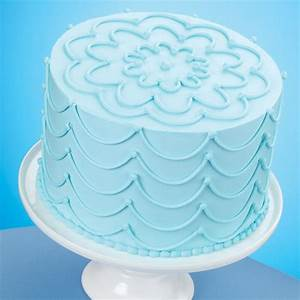 Stunning Strings Sky Blue Cake Wilton