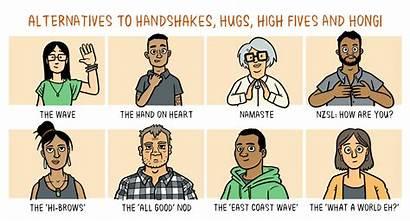 Distance Covid Pandemic Social Distancing Handshake Message