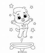 Trampoline Printable Coloring Sheet Gymnastics sketch template