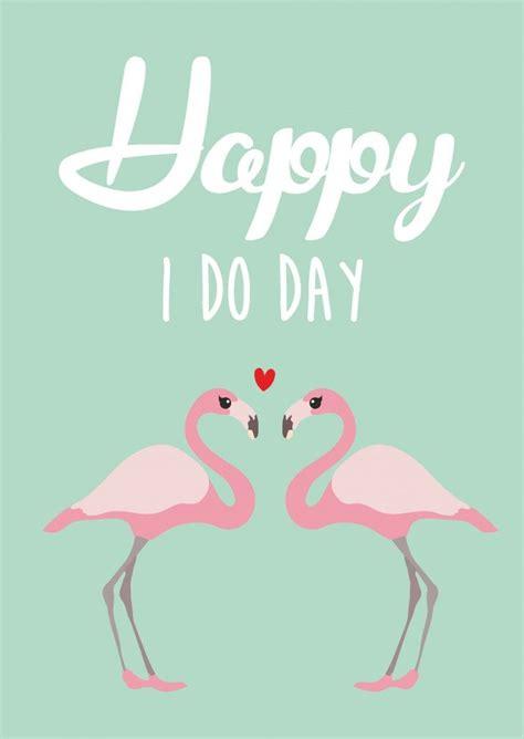 studio inktvis hip postkaarten flamingo wedding
