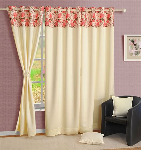 window panel living room faux silk door solid drape
