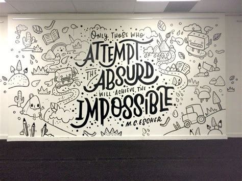 Wall Mural Ideas Office by The Letterettes Design Inspiration Office Mural