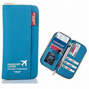 bomtada m square waterproof multi function zippered travel With zippered travel document holder