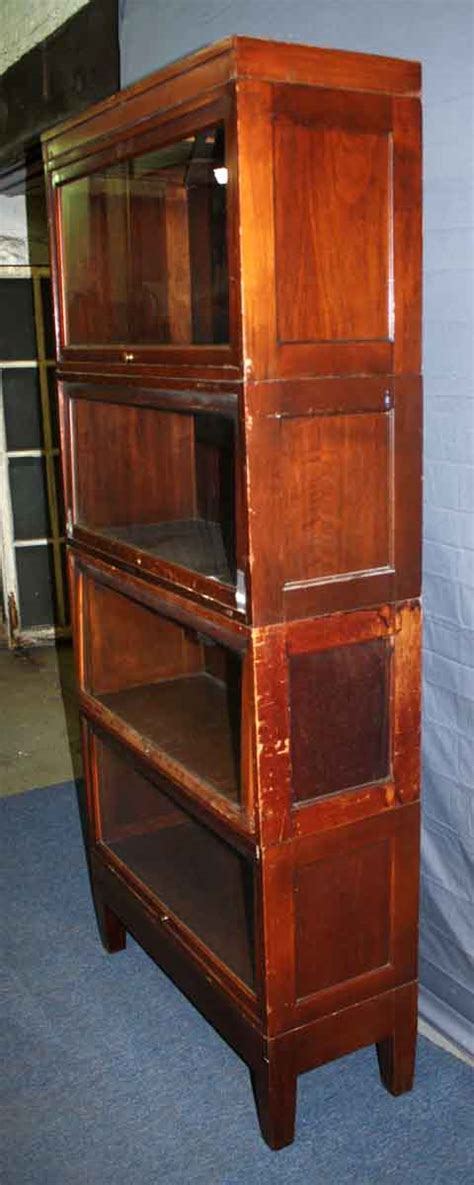 Mahogany Barrister Bookcase by Mahogany Veneer Barrister Bookcase Olde Things