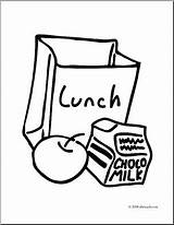 Lunch Bag Clip Coloring Pages Tray Printable Box Drawing Clipart Snack Template Abcteach Meal Sketch Recess Results sketch template