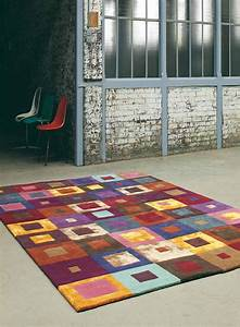 tapis salon best seller estella carre multicolore de la With tapis salon carré