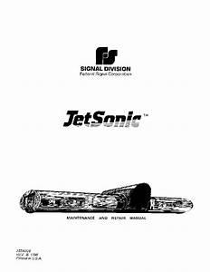 Federal Signal Jetsonic Service Manual Service Manual