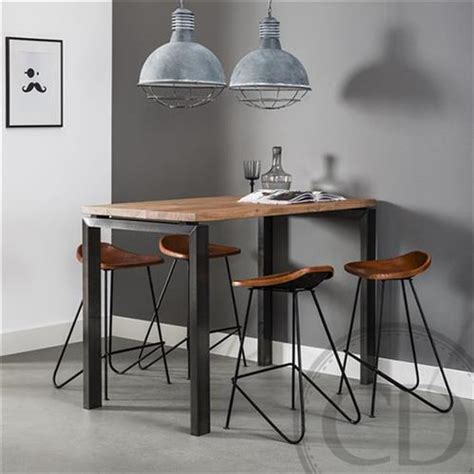 canape et fauteuil table haute de cuisine industrielle pieds métal sur cdc design