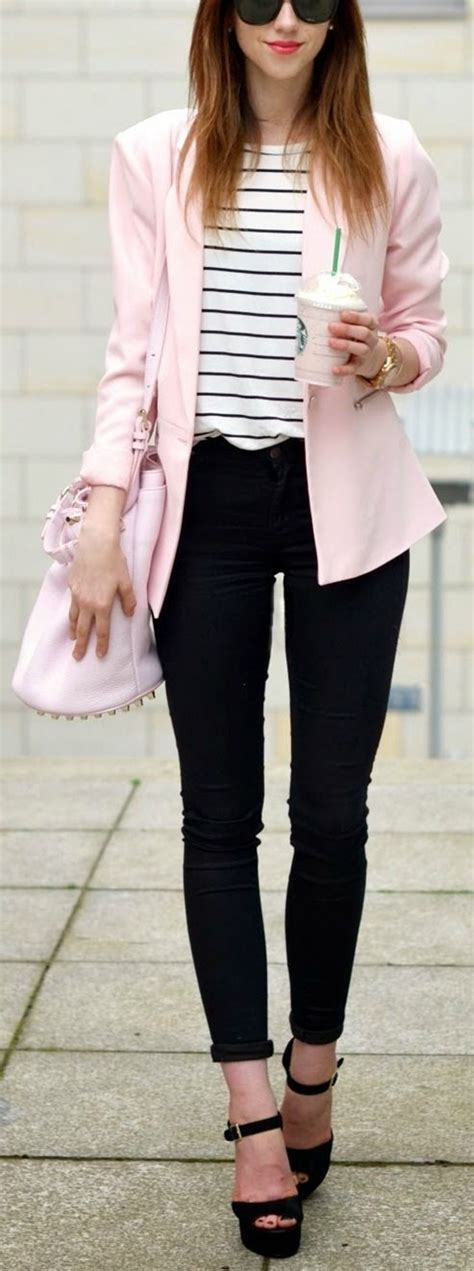 40 Unboring Outfits with Blazer for Office Women