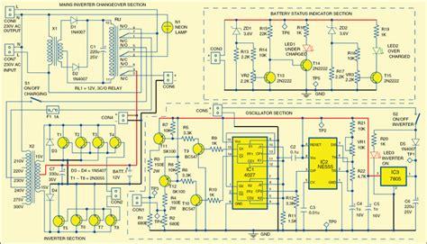 simple mini offline ups circuit diagram lekule blog