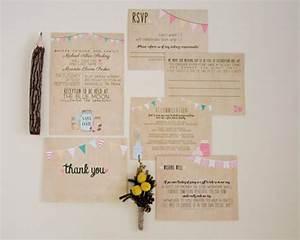 wedding invitation suite deposit printable custom diy With diy wedding invitations brown paper