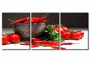 Tableau Pour Cuisine : tableau dans la cuisine piments et tomates cuisine ~ Melissatoandfro.com Idées de Décoration