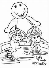 Coloring Pages Barney Barnie sketch template