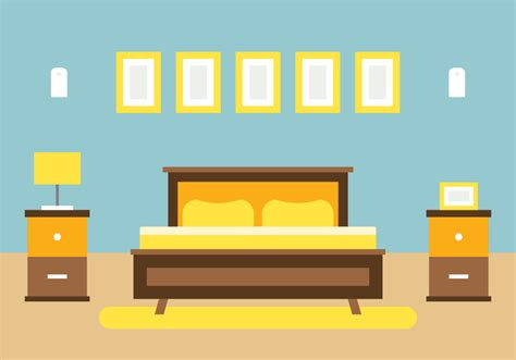 bedroom house interior design   vectors