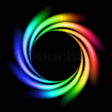 Abstract Rainbow Black Background by Abstract Rainbow Of Lights Explosion On Black